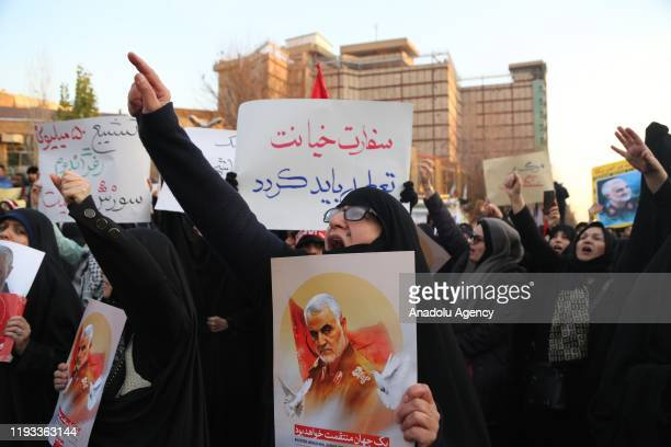Iranians gather in front of Embassy of the United Kingdom to protest against British Ambassador Rob Macaires attendance to a protest last night at...