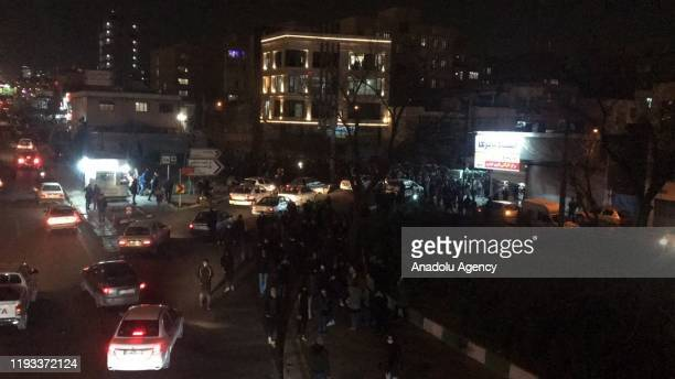 Iranians gather to take part in an anti-government protest around Azadi square in Tehran, Iran on January 12, 2020.