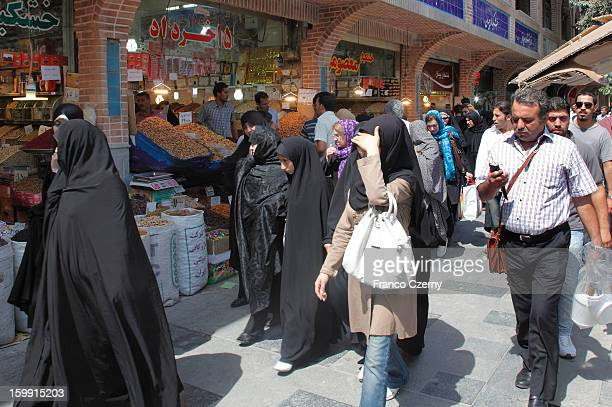 Iranian's shop at a Bazar on August 13 2012 in Tehran Iran
