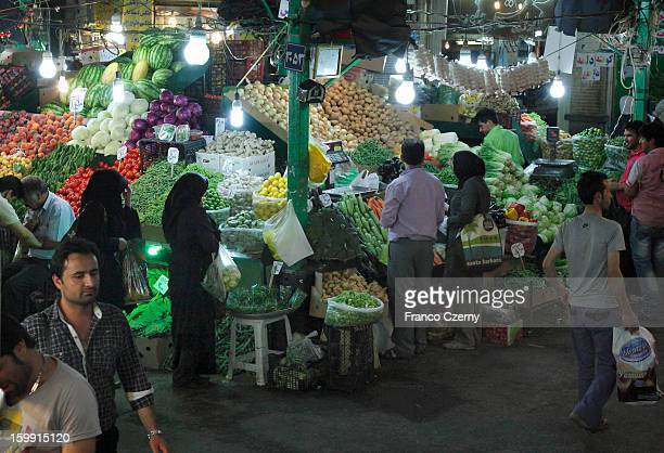 Iranian's shop at a Bazar on August 28 2012 in Tehran Iran