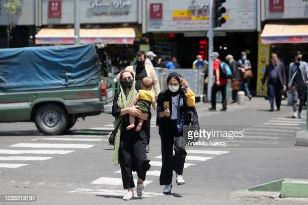 Iranians stroll Revolution Square in Tehran, Iran on June 1, 2021. Country's top election supervisory body disqualified many key reformist candidates...
