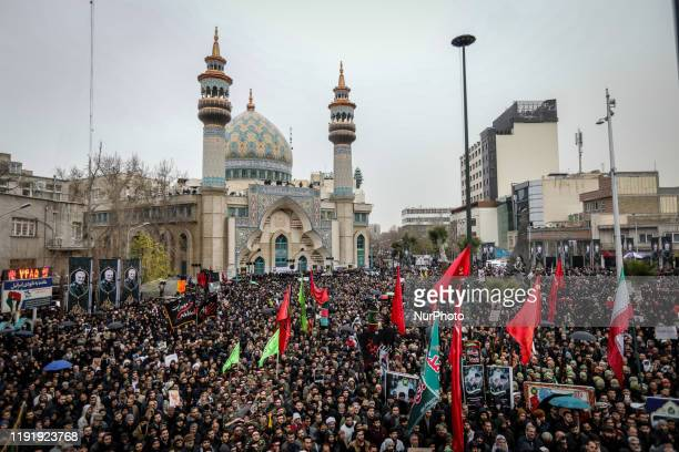 Iranians take part in an antiUS rally to protest the killings during a US air strike of Iranian military commander Qasem Soleimani and Iraqi...