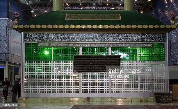 Iranians visit the shrine of the late founder of the Islamic Revolution Ayatollah Ruhollah Khomeini in Tehran on February 5 2009 Iranians shouted...