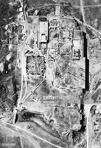 IranPhotograph made by the Oriental Institute of Chicago of an air view of the ruins of the ancient city of Persepolis The photograph was published...