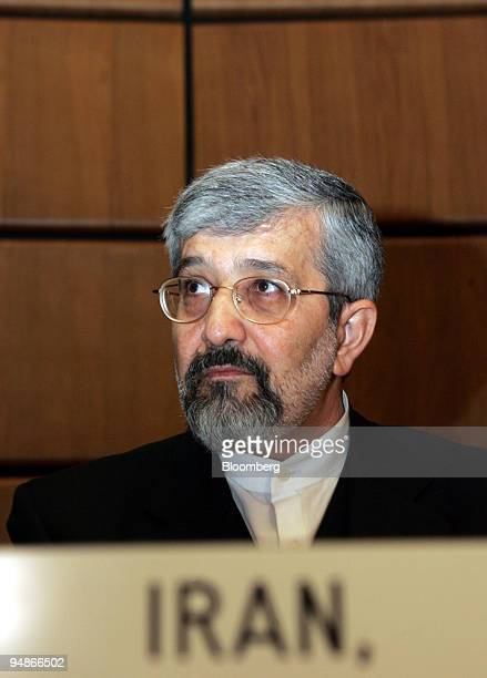 Iran's Ambassador to the International Atomic Energy Agency Ali Asghar Soltanieh waits prior to the start of a meeting of the agency to to decide...