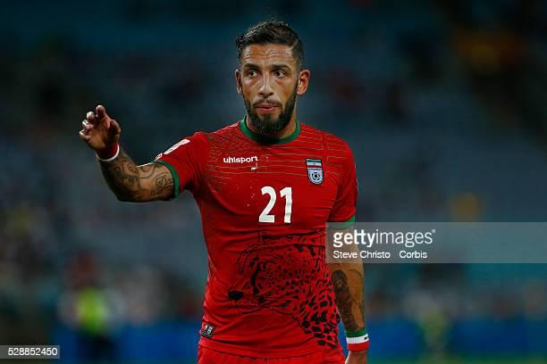 Iran's Ashkan Dejagah prepares to take a corner against Qatar at Stadium Australia Sydney Australia Thursday 15th January 2015
