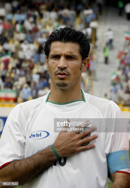 Iran's captain Ali Daei at Azadi stadium in Tehran 17 July 2004 AFP PHOTO/BEHROUZ MEHRI