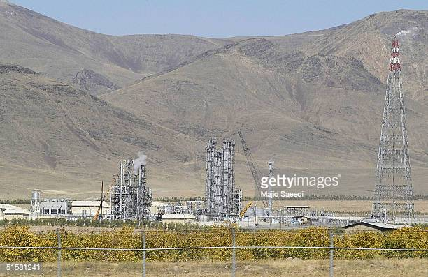 Iran's controversial heavy water production facility is seen in this general view October 27 2004 at Arak south of the Iranian capital Tehran Iran...