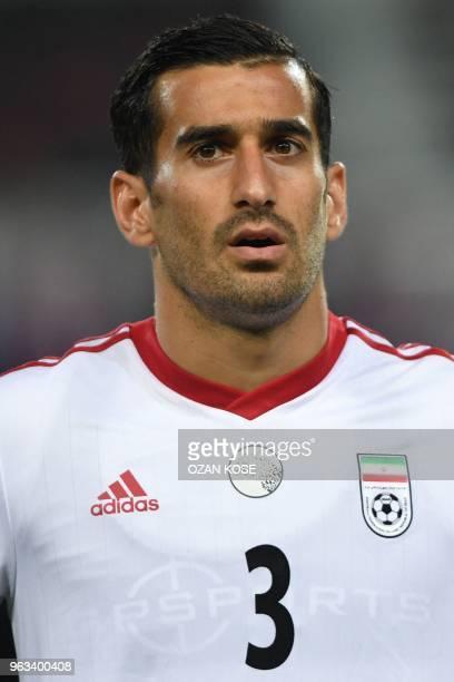 Iran's Ehsan Hajsafi looks on prior to the International friendly football match between Turkey and Iran at Basaksehir Fatih Terim stadium in...