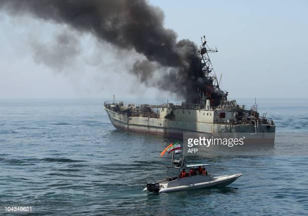 Iran's elite Revolutionary Guard boats attack a naval vessel during a threeday military drill in the Gulf on April 22 2010 Iran's elite Revolutionary...