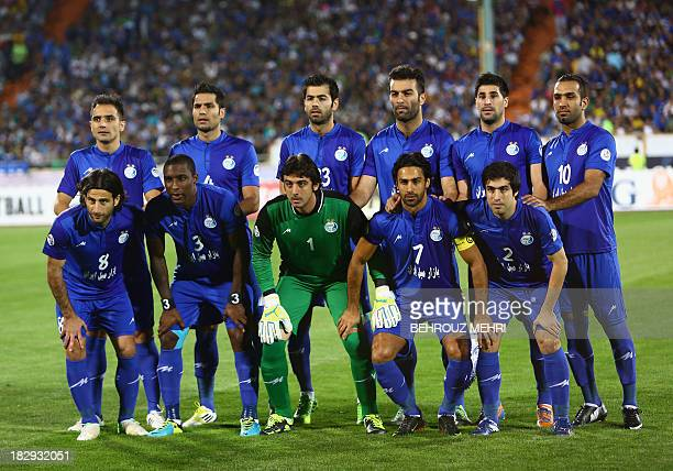 Iran's Esteghlal players pose for a group picture priot to their AFC Champions League SemiFinal football match against South Korea's FC Seoul at...