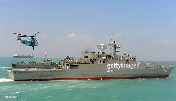 Iran's first domestically made destroyer Jamaran sails in the Gulf on February 21 2009 Iran's navy on February 19 launched in the Gulf its first...