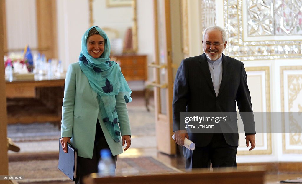 IRAN-EU-DIPLOMACY-ZARIF-MOGHERINI : News Photo