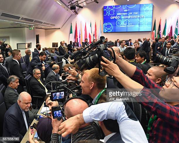 Iran's Minister of Petroleum Bijan Zangeneh attends the 169th meeting of the Organization of the Petroleum Exporting Countries OPEC at OPEC...