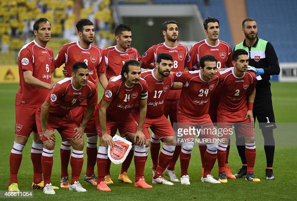 Iran S Persepolis Team Pose For A Team Photo Prior To Their Afc News Photo Getty Images