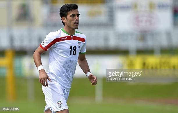 Iran's player Bakhtiar Rahmani is pictured during the friendly football match Iran vs Angola in preparation for the FIFA World Cup 2014 on May 30...