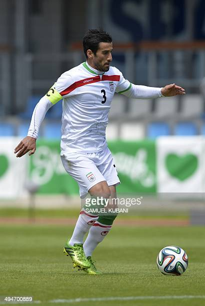 Iran's player Ehsan Hajsafi is pictured during the friendly football match Iran vs Angola in preparation for the FIFA World Cup 2014 on May 30 2014...