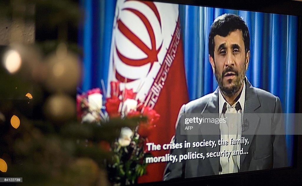 Iran's President Mahmoud Ahmedinejad del : News Photo