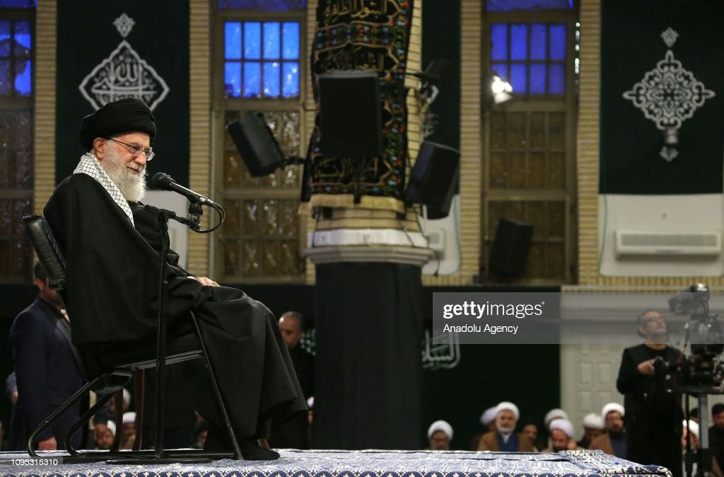 Iran's religious leader Ayatollah Ali Khamenei  : News Photo