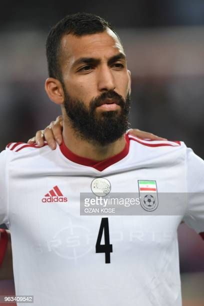 Iran's Roozbeh Cheshmi looks on prior to the International friendly football match between Turkey and Iran at Basaksehir Fatih Terim stadium in...
