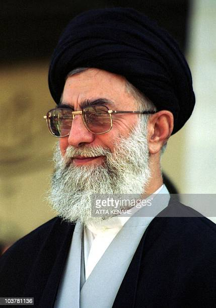 Iran's Supreme Leader Ayatollah Ali Khamenei attends a parade by policewomen to mark the Police Week in Tehran 09 October 2000 It is the first time...