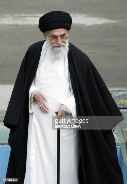Iran's supreme leader Ayatollah Ali Khamenei leads the Eid alFitr prayers at Tehran's Mosalla14 November 2004 The eid marks the end of the holy month...