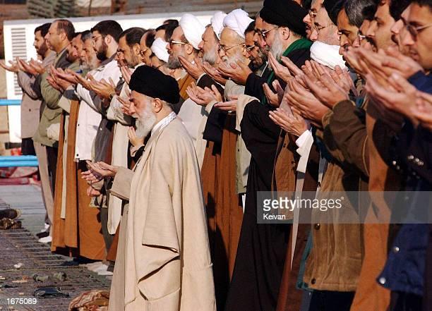 Iran's supreme leader Ayatollah Ali Khamenei leads the prayers at Tehran's Imam Khomeini grand mosque for the Muslim holiday Eid alFitr December 6...