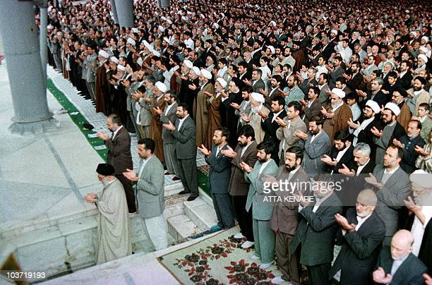 Iran's supreme leader Ayatollah Ali Khamenei leads weekly Moslem Friday prayers attended by thousands of people to mark the 1,000th such ceremonies...
