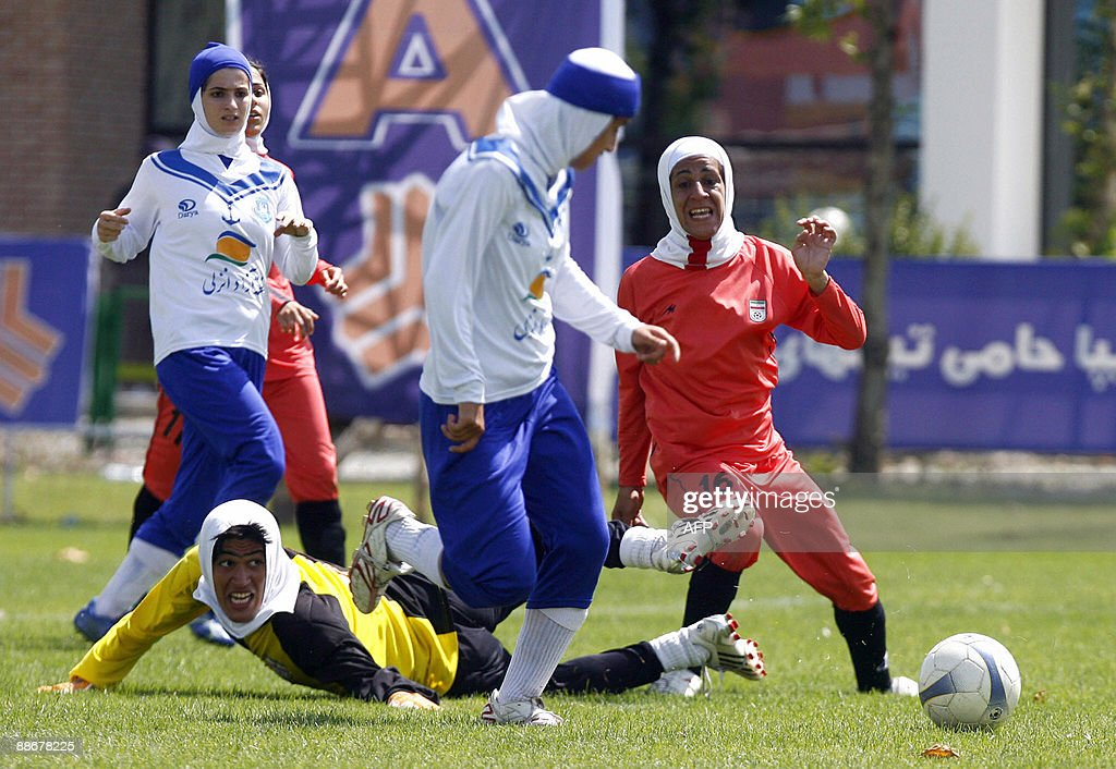 Iran's women national football team (red : News Photo