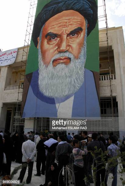 IranTehran Monday June42007 Iranians attends ceremony of the 18th anniversary of death of Iran's Late Leader Ayatollah Khomeini the founder of...