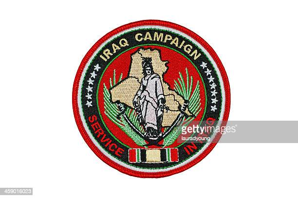 iraq campaign patch - textile patch stock pictures, royalty-free photos & images