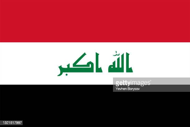iraq flag simple illustration for independence day or election - voting stock pictures, royalty-free photos & images