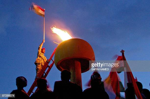 Iraqi Kurds attend a celebration in the town of Akra in northern Iraq as Kurds to mark New Year or Newroz 21 March 2006 Iraq's predominantly Kurdish...
