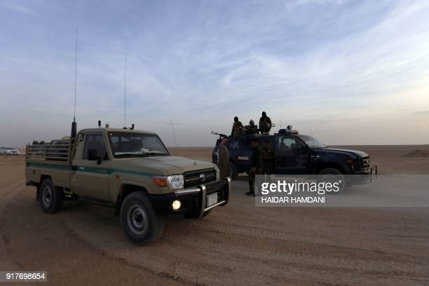 Iraq special forces conduct an operation targeting possible remaining Islamic State group jihadists in the Wadi Shabjah area about 180 kms from the...