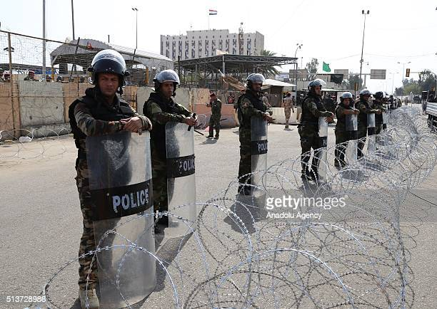 Iraq take security measures as Supporters of Shiite cleric Muqtada alSadr stage a protest calling for governmental reform and elimination of...