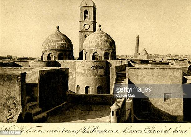Iraq The clock tower and domes of the Dominican Mission Church at Mosul Photo taken in 1920s after creation of Iraq