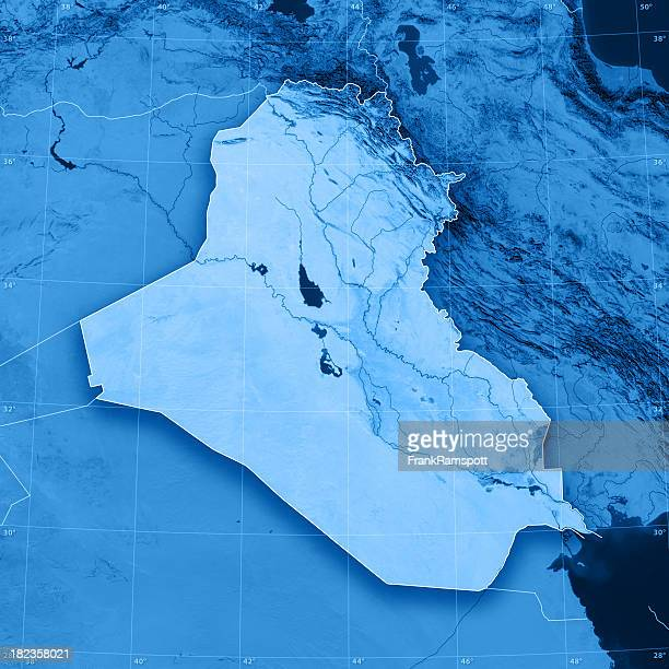 iraq topographic map - frank ramspott stock pictures, royalty-free photos & images