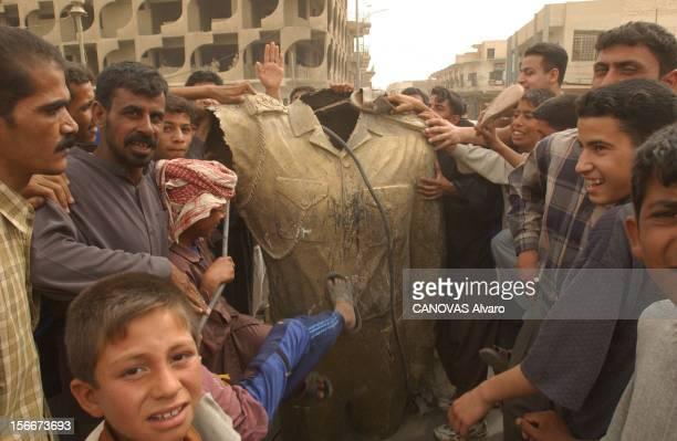 Iraq War Mission Accomplished For The 41st Libération de la ville d'ALDIWANIYYA par le 41ème régiment d'infanterie la population déboulonne la statue...