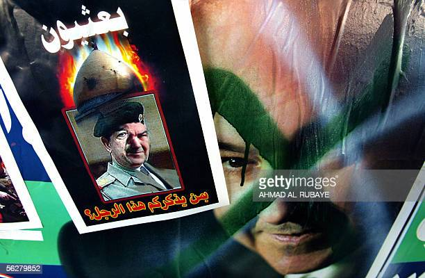 Who does this person remind you of asks a message glued over a defaced election poster put up by former prime minister Iyad Allawi in Baghdad 27...