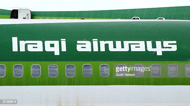Iraqi Airways aircraft lie idle at the Baghdad International Airport March 16 2004 in Baghdad Iraq Iraqi Airways is struggling a year after the war...