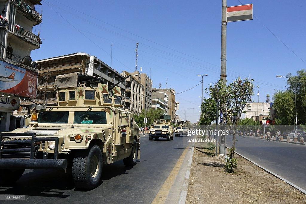IRAQ-UNREST-POLITICS-ARMY : News Photo
