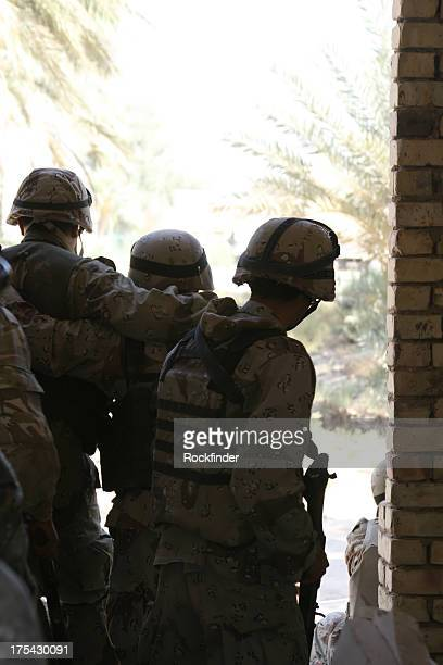 iraqi army - us army urban warfare stock photos and pictures