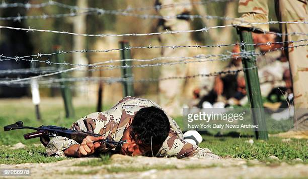 Iraqi Army soldiers go through basic training at their base in Diyala province north of Baghdad Iraq The Iraqi Army operating in Diyala province...