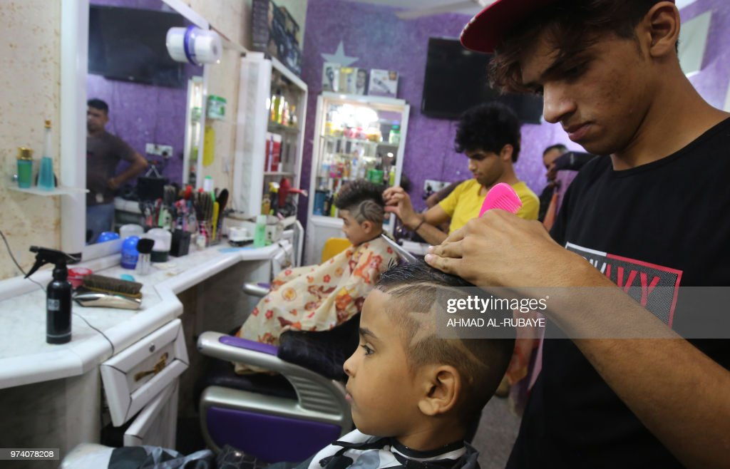 Iraqi Boys Get A Haircut To Celebrate The Upcoming Eid Al Fitr
