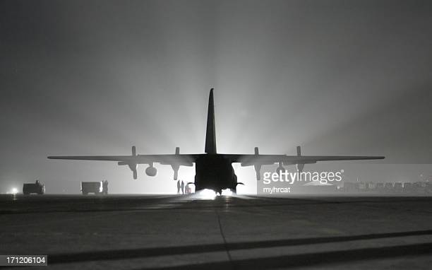 iraqi c-130 - baghdad airport stock photos and pictures
