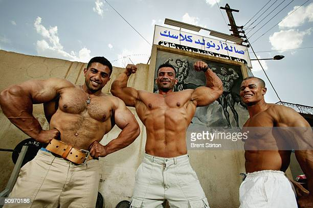 Iraqi champions Firas Jerges Aziz a member of the Iraqi national team and the world youth champion for 2003 Asad Hamid Jafar a member of the Iraqi...