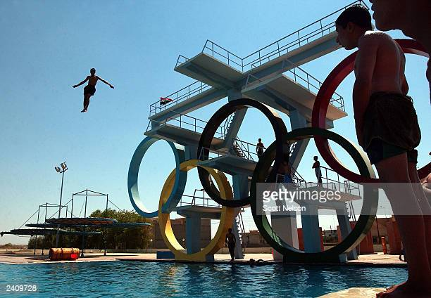 Iraqi Children Cool Off At Olympic Dive Training Center