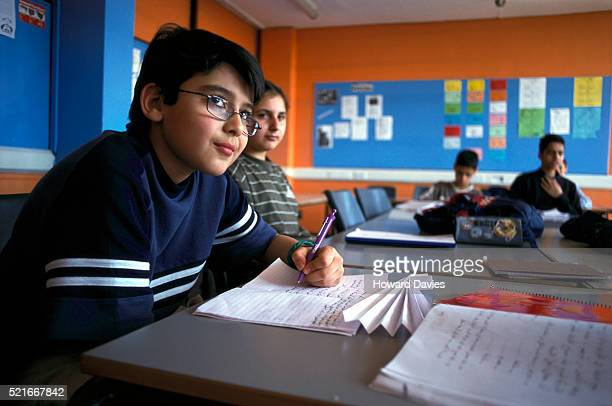 Iraqi Children Learning at Mother Tongue School