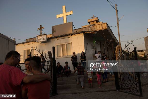 Iraqi Christian families from Karakosh live inside a church and on its grounds in Ankawa in Erbil in Northern Iraq August 23 2014 Since fighters with...