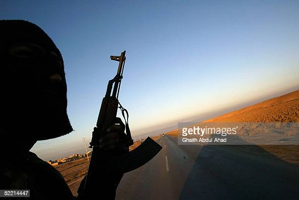 Iraqi commandos of the 3rd battalion of the Commandos brigade conduct raids against suspected insurgents 30km north of Baghdad on February 18 2005 In...